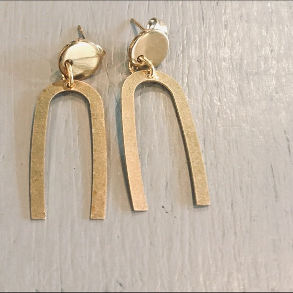 JAGged Edge Jewelry Jewelry - All about that brass dangle minimalist earrings
